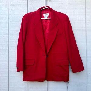 Talbots Red Knit Blazer Petite